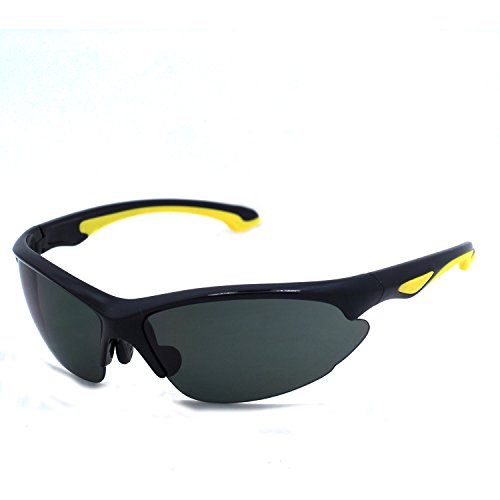 Ossat Newest Outdoor Sports Fashion Sunglasses.Great For Cycling Driving Hiking Skiing or Fishing. (BLACK) (For Newest Men Sunglasses)