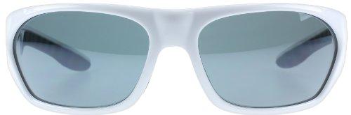 Dirty Dog 53233 Blanc Brillant Vantage Wrap Sunglasses Polarised