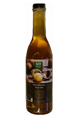 RAW Materials - RAW Virgin - *AUSTRALIAN* Macadamia Nut Oil - Unbleached - Cold Pressed - GMO FREE - 12.7oz. - Great for Cooking / Baking