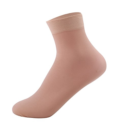 Elitimmy+Women%27s+6+Pairs+Packs+Soft+Ankle+High+Hosiery+Socks%2CNude