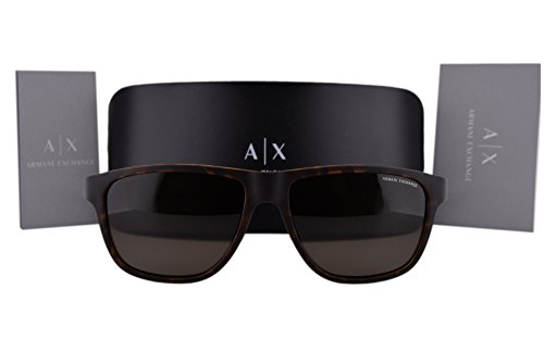Armani Exchange AX4052S Sunglasses Matte Tortoise w/Brown Lens 802973 AX 4052S For - Aviator Armani Sunglasses Exchange Rectangular