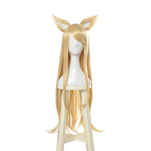 Game LOL League of Legends Ahri Akali Evelynn Kaisa Cosplay Wig KDA New Skin (Ahri)]()