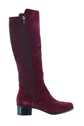 - Marc Fisher Medium Calf Leather Shaft Boots A295884, Burgundy, 9M