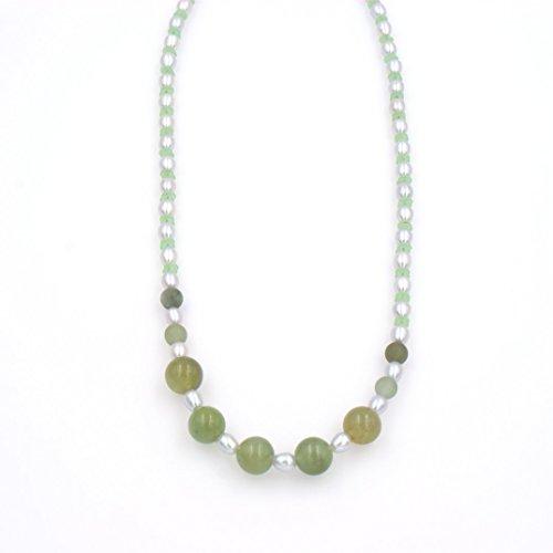 Cultured Pearl Jade Necklace - 9