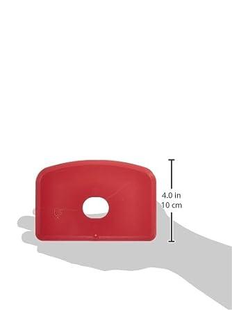 Maya 71910 - Espátula Flexible Detectable y Rayos X, con Agujero, 146 x 98 x 1,65 mm, Rojo: Amazon.es: Industria, empresas y ciencia