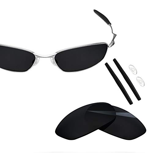 BlazerBuck Polycarbonate Polarized Replacement Lenses & Sock Kit for Oakley Whisker - Black AR Coated