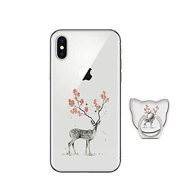 Fundas y estuches para teléfonos móviles, Funda Para Apple iPhone X iPhone 8 Plus con Soporte Cubierta Trasera Animal Suave TPU para iPhone X iPhone 8 Plus iPhone 8 iPhone 7 Plus ( Modelos Compatibles IPhone 8 Plus
