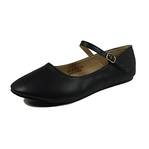 Nova Utopia Donna Mary Jane Ballerine Stile Mjnew - Blackpu