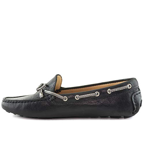 Crush Bow Loafer Driver Club Style Black Women's Leather USA Driving Tie Nantucket xqPq6fYB