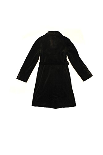 (13174 New Women's Black Sheared Mink Fur Mid Length Coat Stroller Swakara 16)