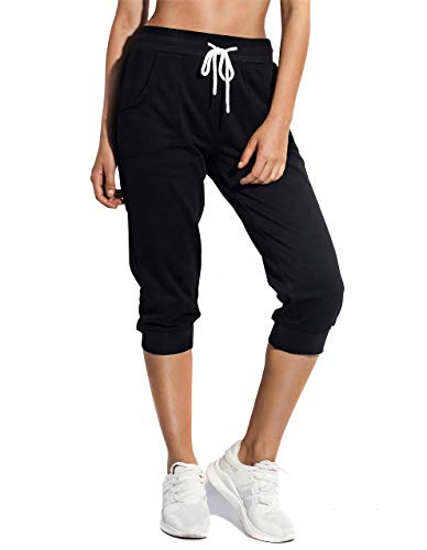 SPECIALMAGIC Womens Capri Jogger Cargo Pants Sweatpants for Women Workout Athletic Sports with Pockets