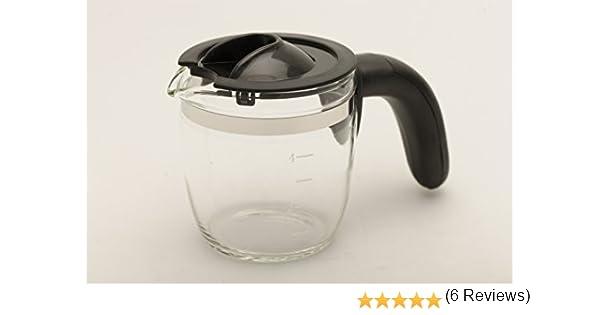 Jarra de cristal 4 tazas para cafeteras de espresso etc. aprox. H: 88 mm, diámetro interior de (superior) 74,5 mm: Amazon.es: Hogar