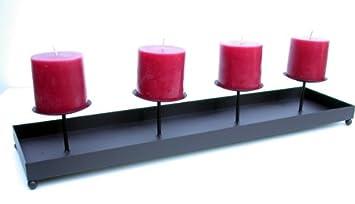 Kerzenständer Metall amazon de kerzenständer metall schwarz kerzenhalter advent