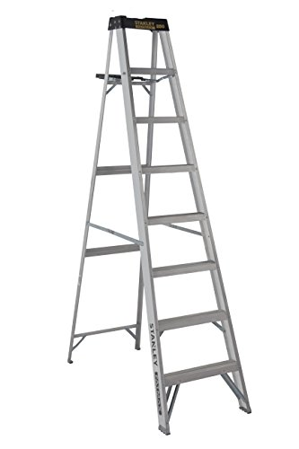 Stanley SXL2110-08 Aluminum Step Ladder Type I, 250-Pound Load Capacity 8-Foot, with Multi-Functional Top