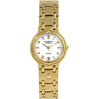 Krug Baumen 5116DM Charleston 4 Diamond White Dial Gold Strap