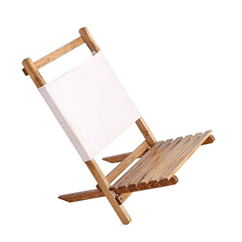 Makeo New Portable Foldable Wooden Chair Lounger for The Beach, RV Camping and Outdoor Furniture Folding Fishing Chair Seat Stool Camp