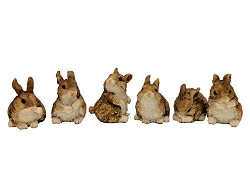(Ganz Brown Bunny Figurine Set of 6)