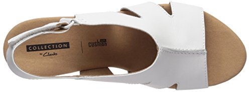 Leather CLARKS Bari Annadel White Women's Platform RvvXq