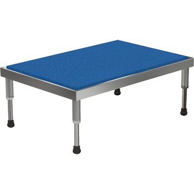 Vestil Adjustable Ergo-Mat Work-Mate Stand - 36in.W x 24in.D, 500-Lb. Capacity, Aluminum, Model# AHT-H-2436-A by Vestil
