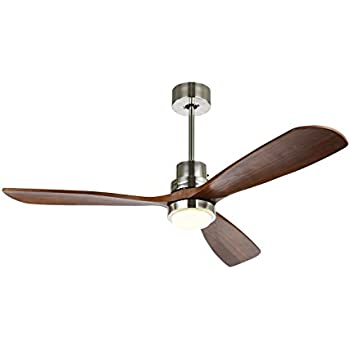 52 ceiling fan with led light timing function with remote control 52 ceiling fan with timing function with remote super noiseless 3 blades distressed koa brushed aloadofball Gallery