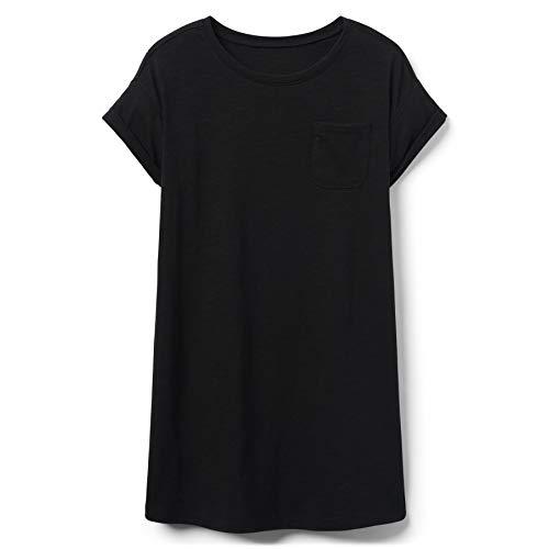 - Crazy 8 Big Girls' Short Sleeve Knit Shirt Dress, Black, XS