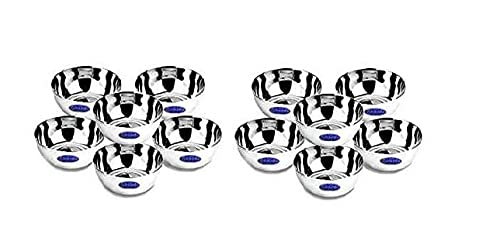 Sharda Metals Stainless Steel Solid Bowl   Set of 12