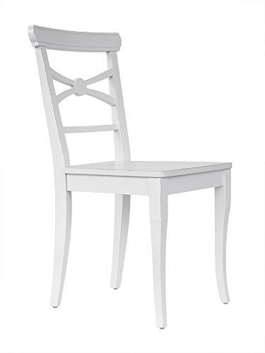 2x Chiavari Stühle Weiß Stuhl Set Lehnstuhl Esszimmer Hochzeit