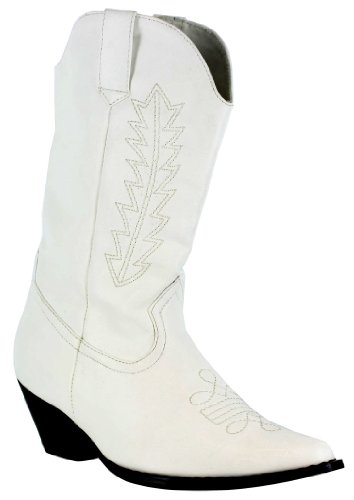 Ellie Girls White Cowgirl Boots