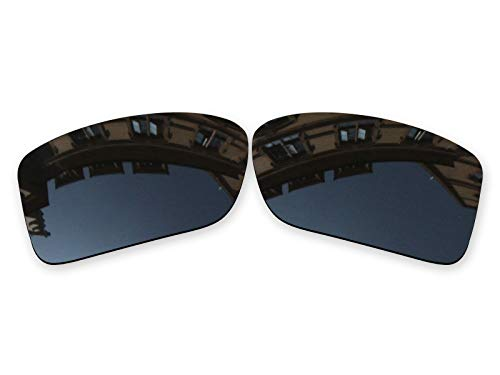 (Vonxyz Lenses Replacement for Oakley Double Edge Sunglass - Stealth Black Polarized)