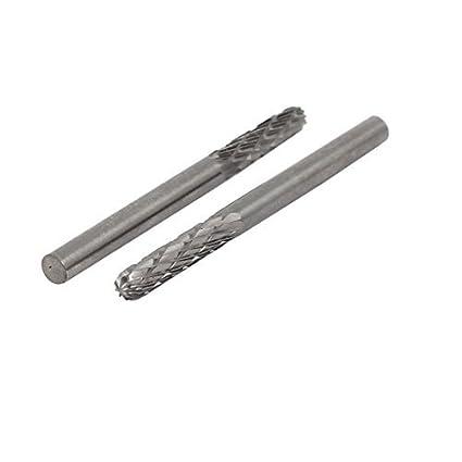 DealMux 3 milímetros Shank 3 milímetros Dia cabeça de metal duro Corte Duplo cilindro em forma