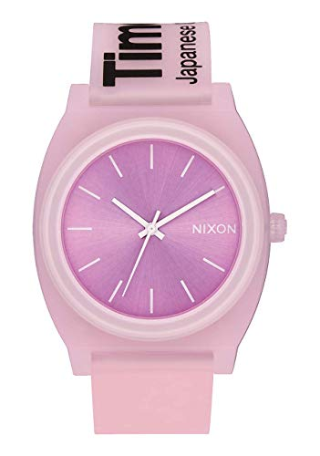 (NIXON Time Teller P A142 - Invisi-Pink - 123M Water Resistant Men's Analog Fashion Watch (40mm Watch Face, 20mm Pu/Rubber/Silicone Band))