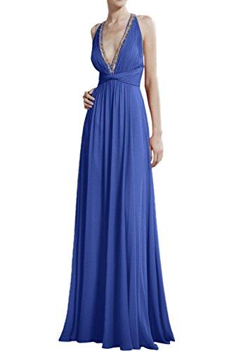 Ausschnitt Kleider Gruen Celebrity Chiffon Partykleider mia Braut Royal Blau Abendkleider Olive Lang La Damen V wIP0vXvq