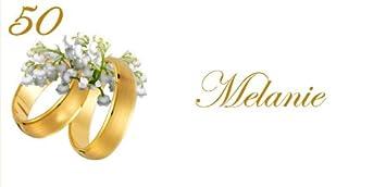 Tischkarte Goldene Hochzeit Maiglockchen U Ringe Ink Druck D