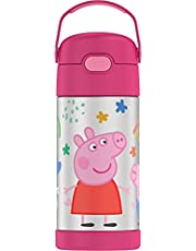 THERMOS FUNTAINER 12 Ounce Stainless Steel Kids Bottle, Peppa Pig