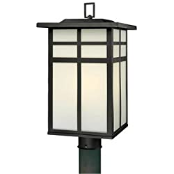 Thomas Lighting SL90067 Mission Outdoor Post Lantern, Black
