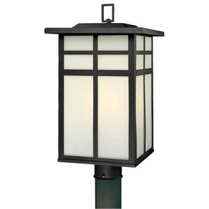 Thomas Lighting SL90067 Mission Outdoor Post Lantern, Black