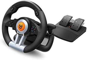 Krom K-WHEEL - NXKROMKWHL - Juego de volante y pedales Multiplataforma: Krom: Amazon.es: Informática