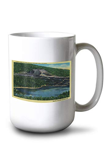 Cinder Cone in Lassen Volcanic National Park (15oz White Ceramic -