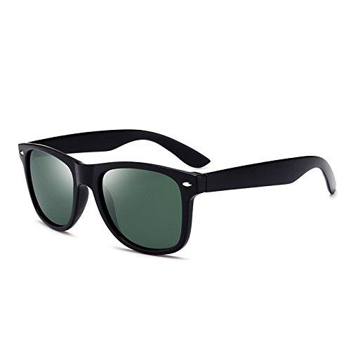 Hommes Polarizer Sauvage Miroir Box Green Dark Mode Conduire Sunglasses Classique Couleur Lunettes Green Soleil Black Black Dark de Box Nouvelles YgWEqtWw