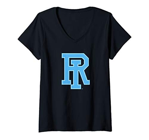 (Womens University of Rhode Island URI Rams NCAA PPRHI02 V-Neck T-Shirt)