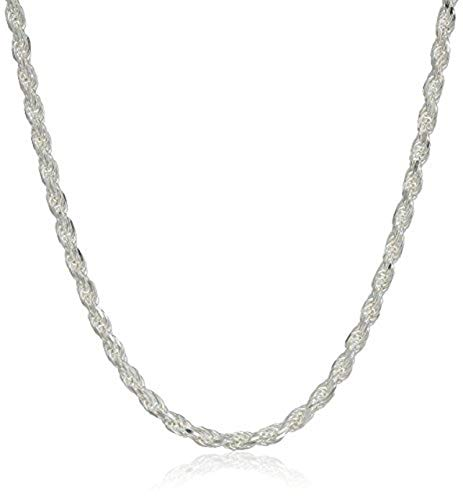 (Silvadi Sterling Silver Diamond-Cut Rope Chain 1.5mm Solid 925 Italy New Necklace (18))