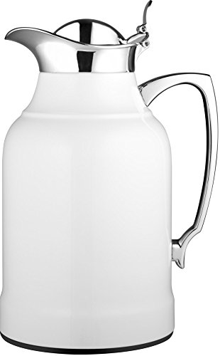 alfi Opal Glass Vacuum Lacquered Chrome Plated Brass Thermal Carafe for Hot and Cold Beverages, 1.0 L, ()