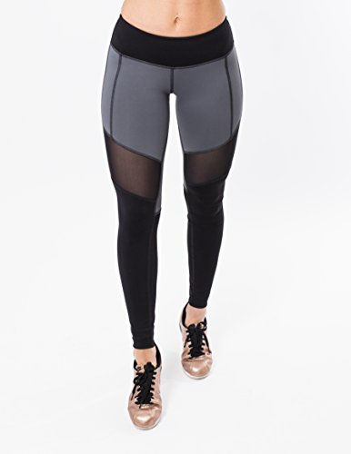 5f34ba28fe3a5 Iron Lily Women's Vanquish Leggings, High Compression, Performance Mesh,  Moisture Wicking, Elastic