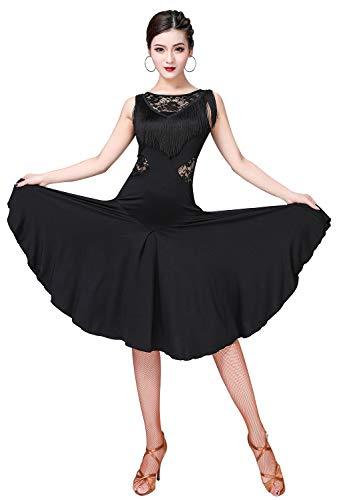 ZX Ballroom Dance Dresses for Women Fringed