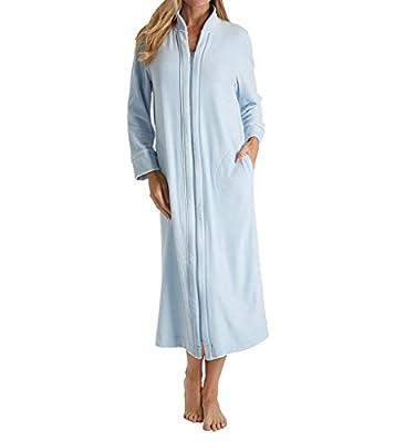 Carole Hochman Women's Standard Velour Long Zip Robe