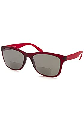 Calvin Klein Platinum CKR3171S-607-200 Deep Wine CKR3171S 2.00 Strength Bifocal Sunglasses