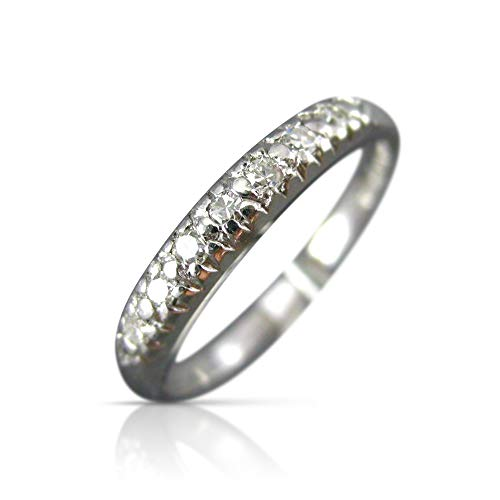 Milano Jewelers .14CT Old Mine Diamond Platinum 7 Stone Wedding Anniversary Ring #19288 -