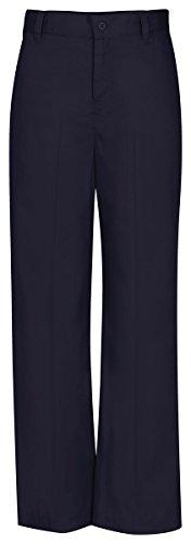 Classroom Uniforms CLASSROOM Big Girls' Adj. Waist Flat Front Trouser, Dark Navy, 7 ()