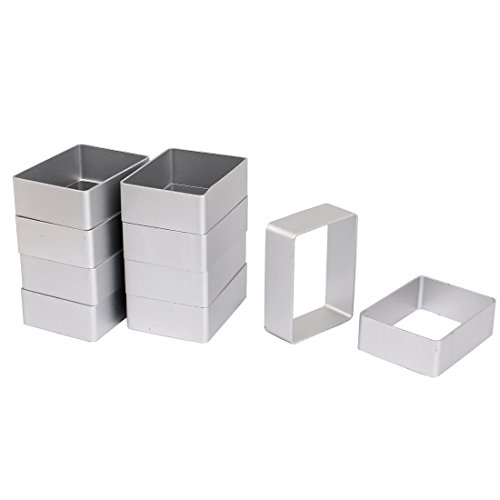 uxcell Cookie Biscuit Baking Cake Rectangle Aluminum DIY Mold Cutter 10pcs ()