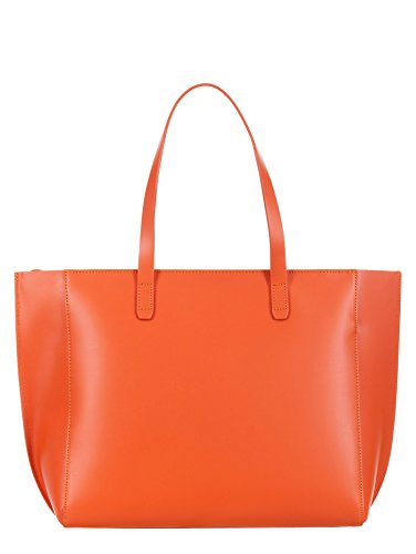 LANCASTER PUR SMOOTH BORSA ZIP TOTE PELLE 423.26 ORANGE